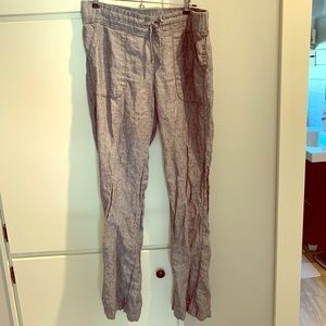 Athleta linen pants size 10